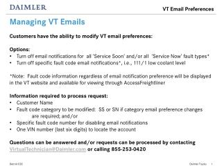 Managing VT Emails