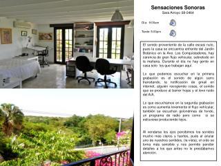 Sensaciones Sonoras Sara Arroyo 08-0464