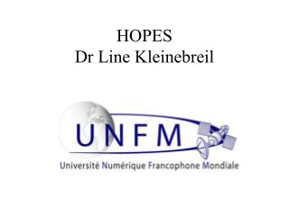 HOPES Dr Line Kleinebreil