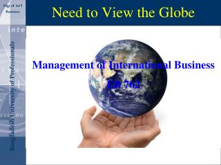 Need to View the Globe