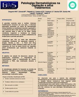 Patologias Dermatológicas na Gestação e seus Tratamentos