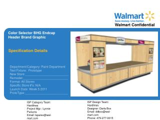 Color Selector BHG Endcap  Header Brand Graphic