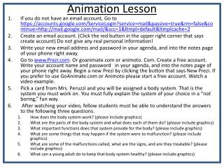 Animation Lesson