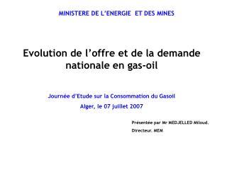 MINISTERE DE L'ENERGIE ET DES MINES