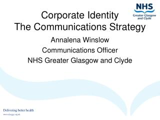 Corporate Identity The Communications Strategy
