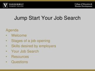 Jump Start Your Job Search