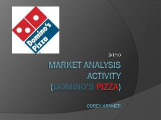 Market Analysis Activity ( Domino's Pizza ) Corey Kramer