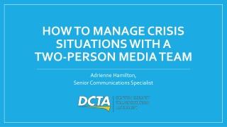 APTA Media Presentation