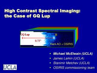 High Contrast Spectral Imaging: the Case of GQ Lup
