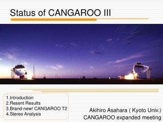 Status of CANGAROO III