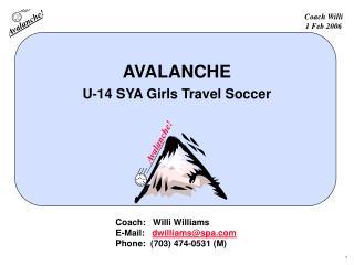 AVALANCHE U-14 SYA Girls Travel Soccer