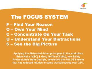 The FOCUS SYSTEM