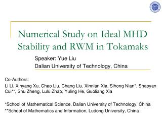 Numerical Study on Ideal MHD Stability and RWM in Tokamaks