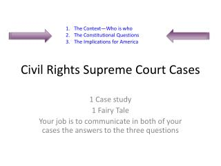 Civil Rights Supreme Court Cases