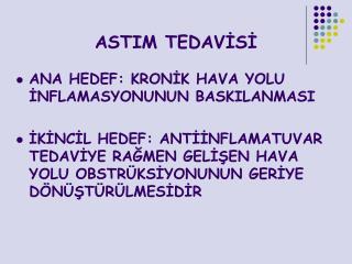 ASTIM TEDAVİSİ