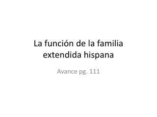 La función de la familia extendida hispana