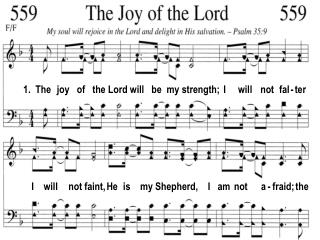 1. The joy of the Lord will be my strength; I will not fal - ter