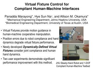Virtual Fixture Control for Compliant Human-Machine Interfaces