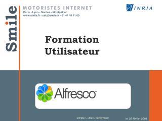 Formation Utilisateur