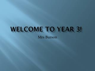 Welcome to Year 3!