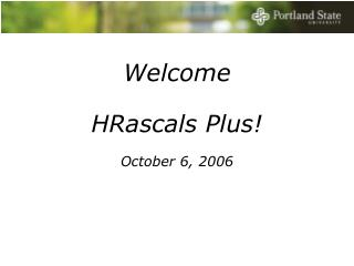 Welcome HRascals Plus!