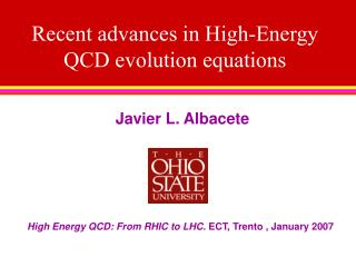 Recent advances in High-Energy QCD evolution equations