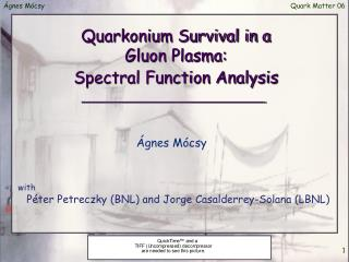 Quarkonium Survival in a  Gluon Plasma: Spectral Function Analysis