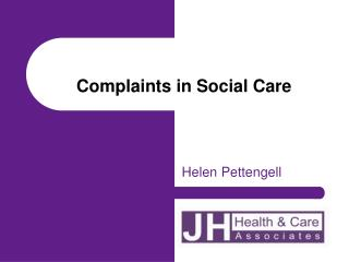 Complaints in Social Care