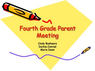 Fourth Grade Parent Meeting