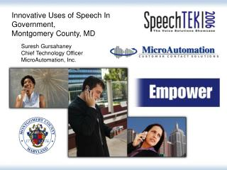 Innovative Uses of Speech In Government, Montgomery County, MD