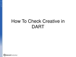 How To Check Creative in DART
