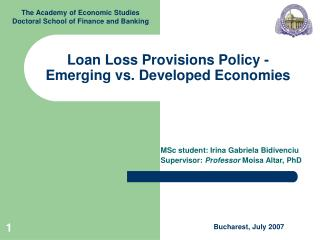 Loan Loss Provisions Policy - Emerging vs. Developed Economies