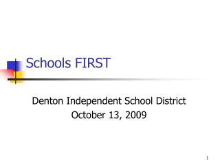 Schools FIRST
