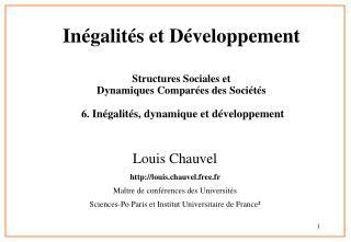 Inégalités et Développement