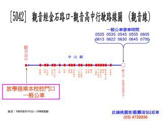 [5042] 觀音經金石路口 - 觀音高中行駛路線圖 ( 觀音線 )
