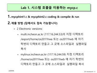 Lab 1. 시스템 호출을 이용하는 mycp.c