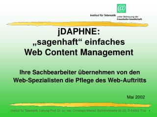 "jDAPHNE: ""sagenhaft"" einfaches Web Content Management"