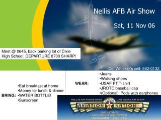 Nellis AFB Air Show