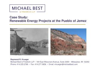 Case Study: Renewable Energy Projects at the Pueblo of Jemez