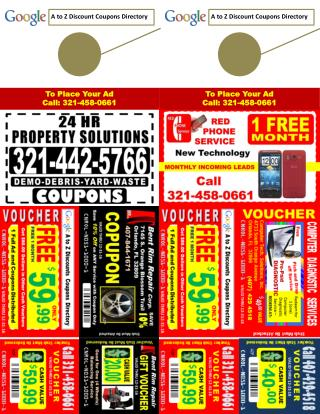A to Z Discount Coupons Directory