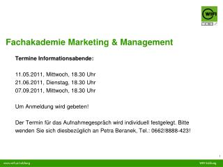 Fachakademie Marketing & Management