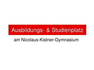 am Nicolaus-Kistner-Gymnasium