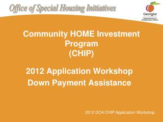 Community HOME Investment Program (CHIP)