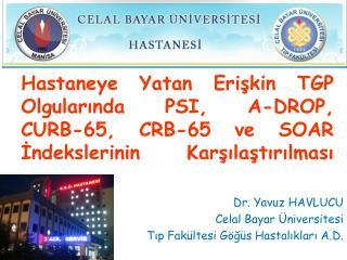 Dr. Yavuz HAVLUCU Celal Bayar Üniversitesi Tıp Fakültesi Göğüs Hastalıkları A.D.