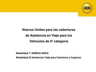 Nuevos límites para las coberturas de Asistencia en Viaje para los Vehículos de 2ª categoría