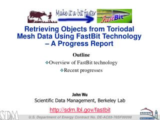 Retrieving Objects from Toriodal Mesh Data Using FastBit Technology – A Progress Report