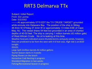 RRT3 Delmarva TTx