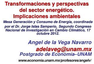 Transformaciones y perspectivas del sector energético . Implicaciones ambientales