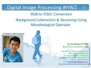 Digital Image Processing #HW2