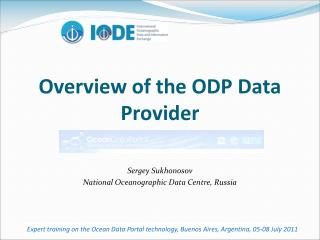 Overview of the ODP Data Provider